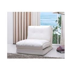 sleeper chair fold out convertible reclining seat bed modern leather furniture - Flip Chair Bed