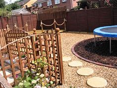 trampoline landscaping ideas
