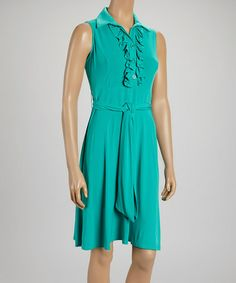 Another great find on #zulily! Jade Ruffle-Front Sleeveless Dress by AA Studio #zulilyfinds