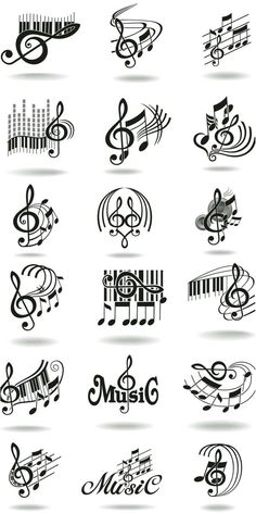 Parce que la Music Nous aime. Music Notes Art, Art Music, Kids Music, Music Painting, Music Logo, Music Tattoo Designs, Music Tattoos, Musik Illustration, Music Doodle