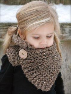 bufanda hermosa con el botón