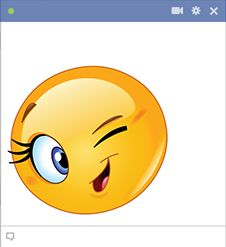 Cute wink Copy Send Share Send in a message, share on a timeline or copy and paste in your comments. Emoticons Code, New Emoticons, Funny Emoji Faces, Smiley Faces, Kiss Animated Gif, Facebook Emoticons, Color Wallpaper Iphone, Emoji Symbols, Emoji Pictures