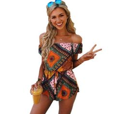 Printed Playsuits & Rompers in 20 Designs & Colours Dressy Jumpsuit Wedding, Jumpsuit Dressy, Pant Jumpsuit, Playsuit Romper, Boho Gypsy, Gypsy Style, Rompers Women, Jumpsuits For Women, Summer Work Outfits