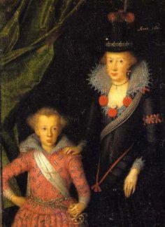 Anna Katharina of Brandenburg (1575-1612) and her son Christian of Denmark (1603-1647)