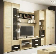 Living Room Furniture With Tv Tv Cabinets Ideas Tv Cabinet Design, Tv Wall Design, Tv Unit Design, Modern Tv Room, Modern Tv Wall Units, Tv Unit Furniture, Living Room Furniture, Furniture Design, Tv Unit Decor