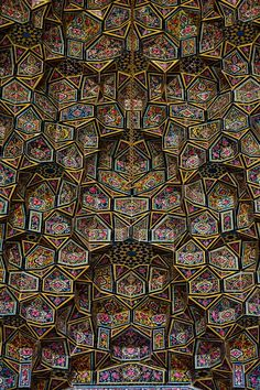 Nasir al-Mulk 'Pink Mosque' Of Iran Is Like Stepping Into A Kaleidoscope Art Et Architecture, Persian Architecture, Mosque Architecture, Beautiful Architecture, Architecture Details, Shiraz En Iran, Pink Mosque, Beautiful Mosques, Iranian Art
