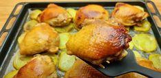 Tento RECEPT mojej mamy všetkých ohromil: Geniálny obed na jednom plechu - rýchly a jednoduchý recept! Pretzel Bites, Bread, Chicken, Food, Brot, Essen, Baking, Meals, Breads