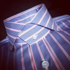 """daniel-levy-chemisier: """"Special and unic high collar for my client. Mens High Collar Shirts, Shirt Collar Styles, Shirt Collar Pattern, African Men Fashion, Mens Fashion, Casual Wedding Suit, Beard Suit, Clothing Store Displays, Bespoke Shirts"""