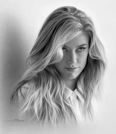 Beautiful Pencil Drawings, Realistic Pencil Drawings, Pencil Art Drawings, Art Drawings Sketches, Portrait Sketches, Pencil Portrait, Portrait Art, Portraits, Led Pencils