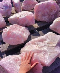 Decorative Rocks Ideas : Rose quartz this stone brings out the best in me Crystal Aesthetic, Pink Aesthetic, Crystal Magic, Crystal Healing, Crystals And Gemstones, Stones And Crystals, Swarovski Crystals, Raw Rose Quartz, Rose Quartz Meaning