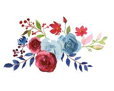 Burgundy and Navy Watercolor Collection, Merlot and Blue Wedding Florals, Burgundy, Blush and Navy Blue Hand painted Florals Flower Painting Canvas, Diy Painting, Tatto Floral, Watercolor Rose, Watercolor Paintings, Blue Wedding, Floral Wedding, Floral Rosa, Flower Circle