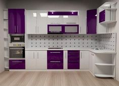 Fabulous Modern Kitchen Sets on Simplicity Efficiency and Elegance Purple Kitchen Cabinets Kitchen Cupboard Designs, Kitchen Cabinet Design, Kitchen Room Design, Cupboard Design, Kitchen Cabinet Interior, Kitchen Design, Kitchen Furniture Design, Kitchen Pantry Design, Interior Design Kitchen