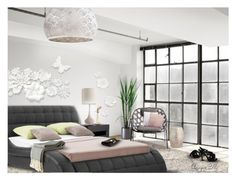 Chasing Clouds by angiem on Polyvore featuring interior, interiors, interior design, home, home decor, interior decorating, Deux Lux, Benjamin Hubert, Grace and bedroom