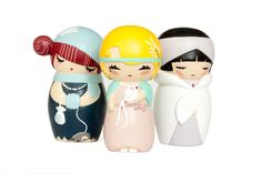 Limited Edition Katia De Conti Momiji Dolls- Billie D, Anny O & Louise B