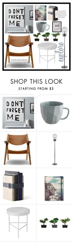 """""""explore"""" by daniel-mrva ❤ liked on Polyvore featuring interior, interiors, interior design, home, home decor, interior decorating, CB2, Menu, ferm LIVING and Nearly Natural"""