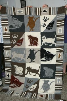 the Cat's Meow by maddknitter, via Flickr you can download this pattern from family circle easy knitting winter  2001/2002