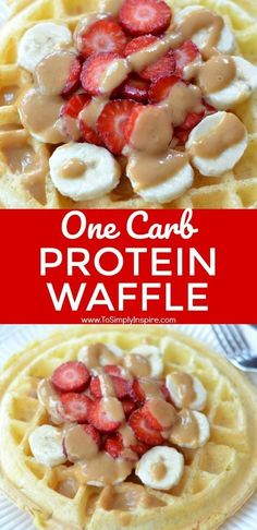 These light and fluffy low carb Protein Waffles make the perfect breakfast or snack. Freezer friendly too for make ahead! | www.ToSimplyInspire #waffle #protein #easy #healthy