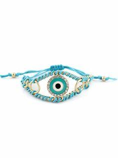 Blue Gold Diamond Eye Bracelet