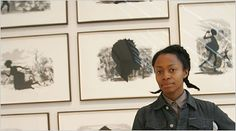 Jen & Carolyn -- This is Kara Walker's website, which not only has examples of her work but also the meanings behind her moving images. http://learn.walkerart.org/karawalker