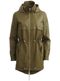 Vila – Simple jacket in ivy green