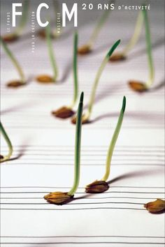seedlings as music notes