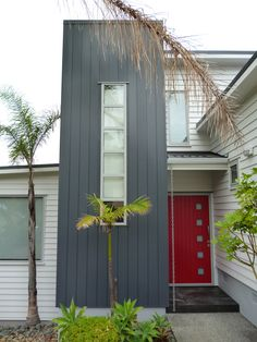 #Nu Wall Aluminium #www.nuwall.co.nz #Vertical #E200 #Duratec Matt Grey Friars