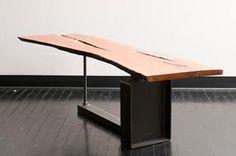 cherry slab Slab Table, Table Legs, Wood Tables, Vintage Industrial Furniture, Industrial Desk, Live Edge Furniture, Wood Slab, Rustic, Interior Design