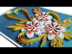 How to Make Beautiful Quilling Flowers -Birthday Gift Greeting Card -Step by Step\PaperQuilling Art - YouTube