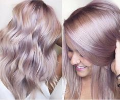 iridescent rose pink metallic haircolor cassiskovic kenra - Hair & Make-Up + Nails - Beauty Tips and Tricks Lavender Hair, Lilac Hair, Hair Color Pink, Cool Hair Color, Pastel Hair Colors, Purple Blonde Hair, Dusty Rose Hair, Pink Hair Toner, Blonde Hair With Color
