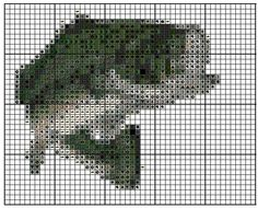 Bass Fish Cross Stitch Pattern EMAIL ONLY