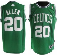 7e6939d61 Boston Celtics  20 Ray Allen Revolution 30 Swingman Green Jersey