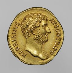 Coin of the Emperor Hadrian, minted in Rome, A.D. 134-38; gold