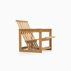 Edvin Helseth easy chairs in pine by Trybo at Studio Schalling