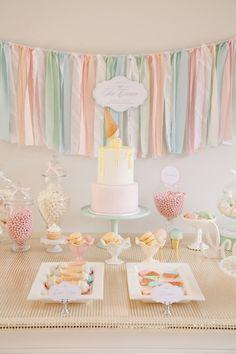Colores para fiesta de Bautizo Little Big Company | The Blog: Indiana's Ice Cream Social by Jo Studio