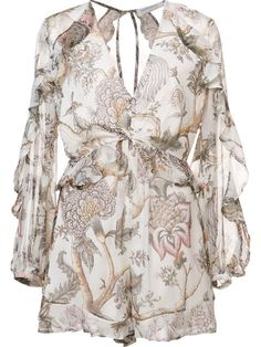 Shop Zimmermann 'Karmic Floral Flounce' playsuit in Kirna Zabête from the world's best independent boutiques at farfetch.com. Shop 400 boutiques at one address.