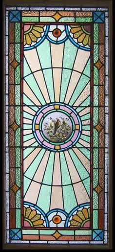 antique windows | Antique Stained Glass Windows | CIRCA 1890 Stain Glass Leaded Window ...
