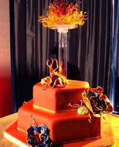Chihuly Wedding Cake by Unforgettable Wedding Cakes
