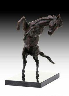 Rearing horse Bronze sculpture