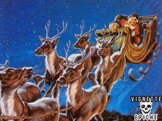 E' la vigilia, Babbo Natale pronto per partire entra nella stalla per vedere come stanno le renne ma trova una brutta sorpresa.  Tutte le sue renne sono ribaltate con le zampe per aria.  Babbo Natale è agitatissimo, cerca di scuoterle ma le renne non si muovono, allora, molto preoccupato, decide di chiamare il veterinario:  - Pronto, pronto veterinario!!!!  - Si mi dica.... CONTINUA