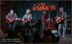 Desert Rose Band Acoustic Quartet  Iridium, July 2012  photo: Nelson Onofre © 2012  Electric Eyes Photography - a silent window into the world of sound    Chris Hillman, Herb Pedersen, John Jorgenson & Billy Bryson