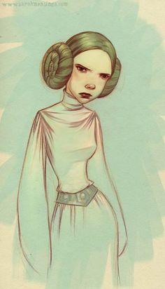 Sarah Mensinga's take on Princess Leia.  Love her art style!
