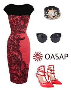 """""""www.oasap.com"""" by hanifasemic ❤ liked on Polyvore featuring vintage"""