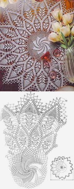 Free Crochet Doily Patterns, Hand Embroidery Patterns Flowers, Crochet Doily Diagram, Crochet Chart, Crochet Motif, Crochet Designs, Crochet Doilies, Crochet Flowers, Crochet Coaster