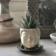 Spent the morning finishing up a few more of these little Buddha head planters for @bohindistyle #madewithintention