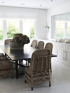 215 best Vintage Rattan Chairs images on Pinterest   Cane chairs     Bungalow Blue Interiors   Home   rattan dining chairs   a great find