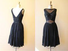 50s Dress  Vintage 1950s Dress  Designer Oleg by jumblelaya, $298.00