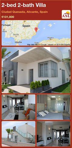 2-bed 2-bath Villa in Ciudad Quesada, Alicante, Spain ►€131,000 #PropertyForSaleInSpain