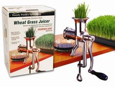 Hurricane Stainless Steel Manual Wheatgrass Juicer- Hand Crank Juice Extractor for Wheat Grass Barley Grass Juicing kitchen-dining Wheatgrass Juicer, Juicer Reviews, Manual Juicer, Barley Grass, Best Juicer, Juice Extractor, Wheat Grass, Kitchen Gadgets, Kitchen Utensils