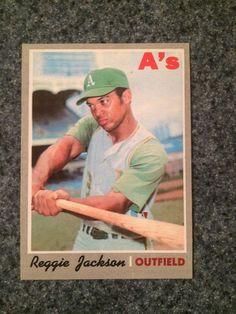 1970 Topps Baseball Card # 140 Reggie Jackson  Gorgeous Card Great One To Grade