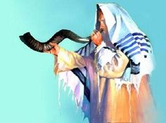 Rabbi w/ Shofar Talit Cross Stitch Pattern Jewish Judai